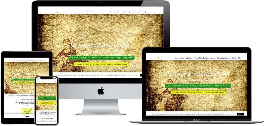 responsive website design - Vermont Authors Fest