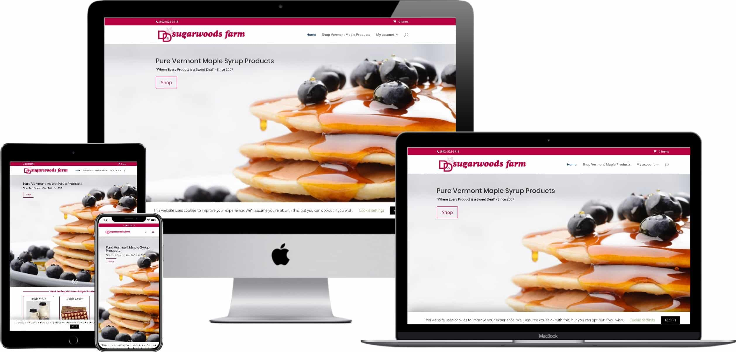 Responsive Web Design - D&D Sugarwoods Farm
